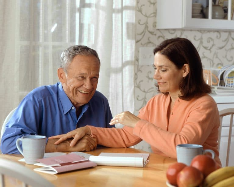 An Aged Couple Checking the Affordability of Home Health Care