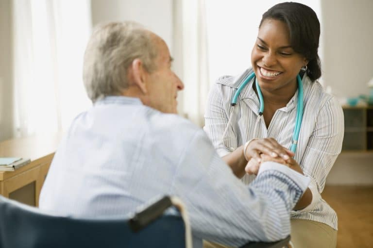 A Home Visit of a Doctor to Check the Home Health Care