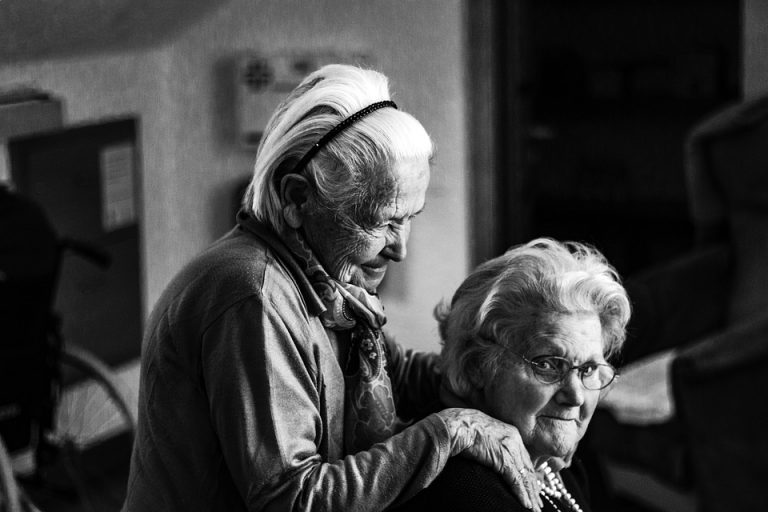 Two Old Women on a Nursing Home