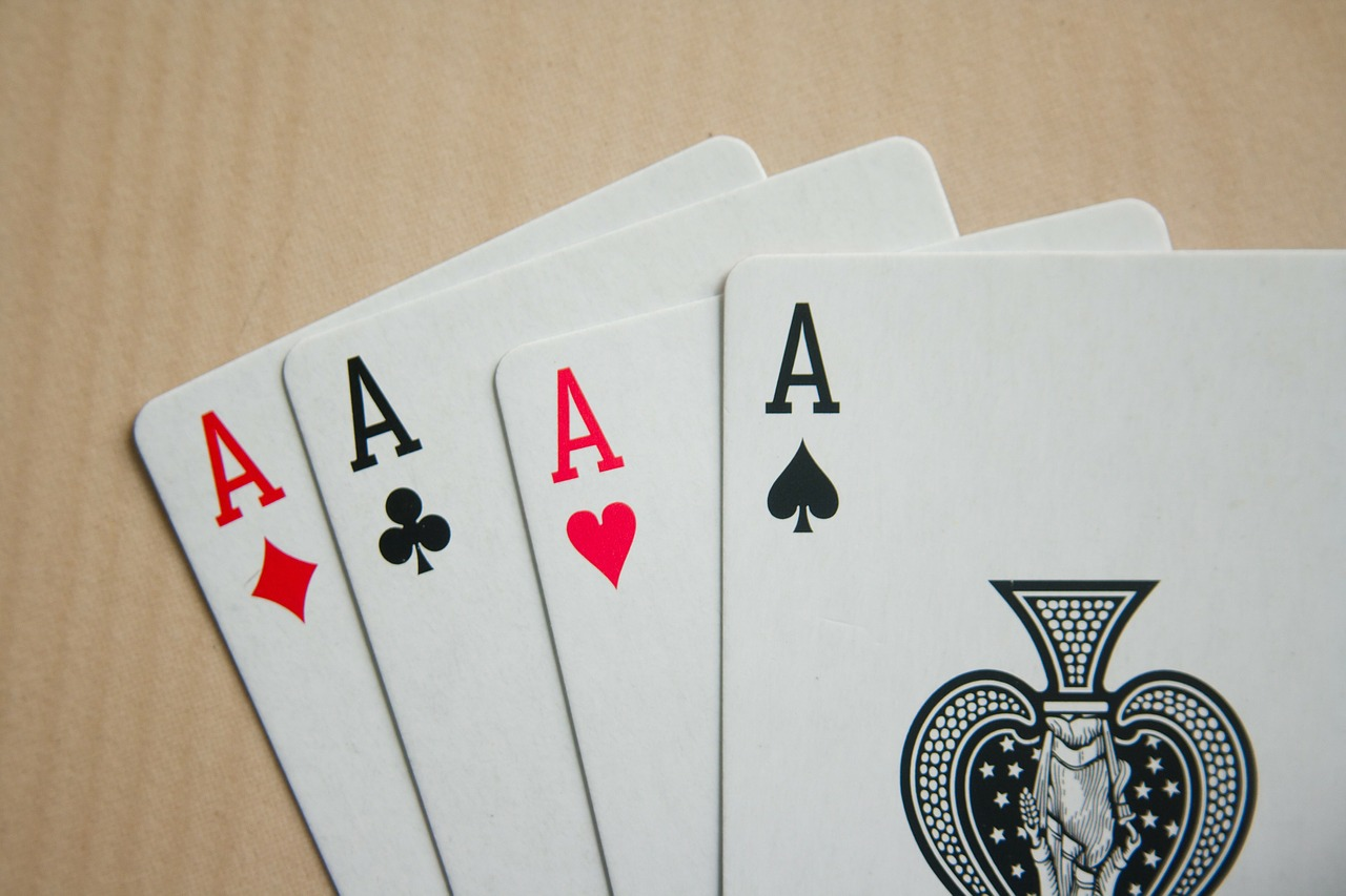 Four aces: getting four of a kind is part of learning how to play Spoons